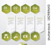 design clean number banners... | Shutterstock .eps vector #182989643