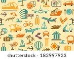 travel background | Shutterstock .eps vector #182997923