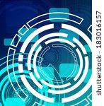 abstract hi tech teal... | Shutterstock . vector #183016157