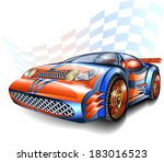 speeding racing car | Shutterstock .eps vector #183016523