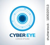 cyber eye symbol icon. vector... | Shutterstock .eps vector #183020513