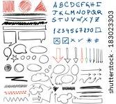 doodle | Shutterstock .eps vector #183023303