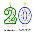 Birthday Candles Number Twenty...