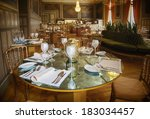 classic decorated restaurant... | Shutterstock . vector #183034457
