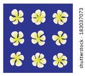 asian yellow flower. vector...   Shutterstock .eps vector #183037073