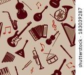 vector seamless pattern of... | Shutterstock .eps vector #183039287