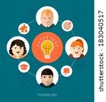 vector teamwork concept... | Shutterstock .eps vector #183040517