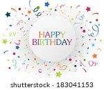 birthday celebration with... | Shutterstock . vector #183041153