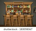 bar counter   Shutterstock .eps vector #183058367