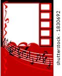 music in red with copy space | Shutterstock .eps vector #1830692