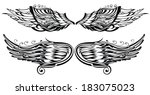 tattoo wings | Shutterstock .eps vector #183075023