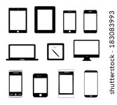 vector illustration icons...