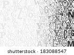vector gray alphabet background ... | Shutterstock .eps vector #183088547