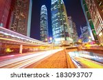 city road tunnels light trails... | Shutterstock . vector #183093707