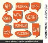 colorful hand drawn speech...   Shutterstock . vector #183099863