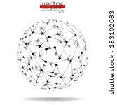 vector abstract design sphere | Shutterstock .eps vector #183102083