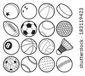 sport balls | Shutterstock .eps vector #183119423