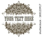 abstract vintage sepia banner   Shutterstock .eps vector #183123917