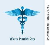 caduceus medical symbol... | Shutterstock .eps vector #183124757