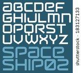 futuristic vector font. modern... | Shutterstock .eps vector #183127133