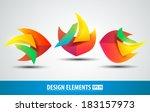 vector logo design elements .... | Shutterstock .eps vector #183157973
