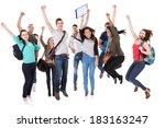 full length portrait of... | Shutterstock . vector #183163247