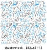 back to school doodle  | Shutterstock . vector #183165443