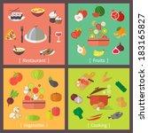 icons set for restaurant  menu  ... | Shutterstock .eps vector #183165827