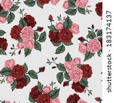 seamless floral pattern with of ... | Shutterstock .eps vector #183174137