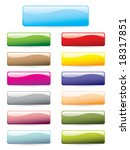 set of colourful buttons | Shutterstock .eps vector #18317851