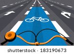special bicycle ride at the... | Shutterstock .eps vector #183190673