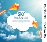 sky background with kites   Shutterstock .eps vector #183198893