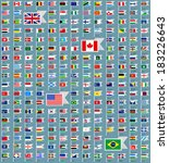 216 flags of world  flat vector ... | Shutterstock .eps vector #183226643