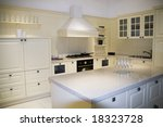 modern large kitchen of home | Shutterstock . vector #18323728