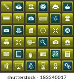 blue green vector template for...
