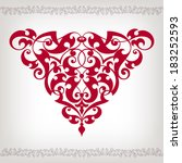 vector vintage baroque scroll... | Shutterstock .eps vector #183252593