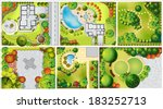 collections od  landscape plan... | Shutterstock . vector #183252713