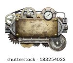 stylized metal collage of... | Shutterstock . vector #183254033