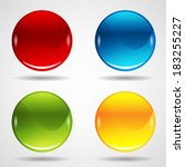 colorful web buttons set | Shutterstock .eps vector #183255227