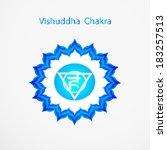 symbol of vishuddha chakra...   Shutterstock .eps vector #183257513