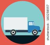 truck flat design illustration | Shutterstock .eps vector #183258557