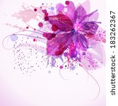 design template with floral ... | Shutterstock .eps vector #183262367