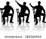 man in position sitting | Shutterstock .eps vector #183266963