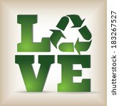 i love recycling template  ... | Shutterstock .eps vector #183267527