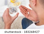 cropped image of sick young man ...   Shutterstock . vector #183268427