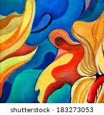 Decorative Flower Painting By...