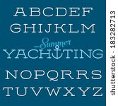 vector extended font. retro... | Shutterstock .eps vector #183282713