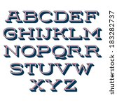 vector alphabet. decorative... | Shutterstock .eps vector #183282737