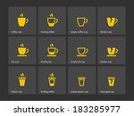 coffee mug duotone icons....