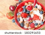 a bowl of cereals with... | Shutterstock . vector #183291653
